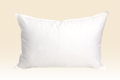standard-sized down and feather pillows
